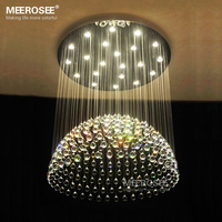 Luxurious Crystal Chandelier Light Fixture GU10 Crystal Lamp Flush Mounted Lamparas For Hotel Project Restaurant 100