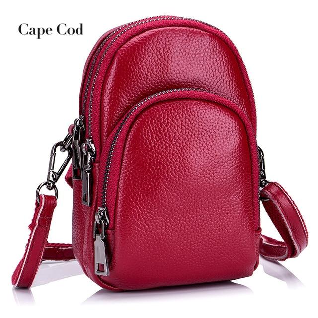 e17c1a0ff15f Mini Small Women s Crossbody Bags Red Cow Leather Women Messenger Shoulder  Bag Female Lightweight Phone Bag Large Capacity PJ