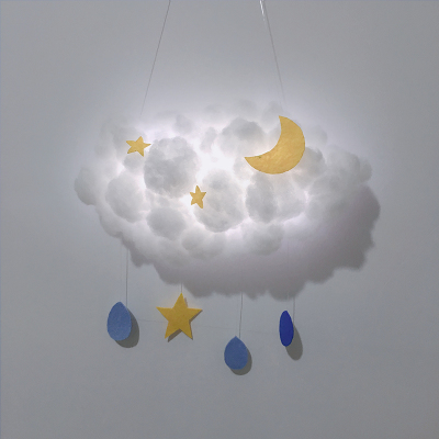 DIY Lovely Cloud Star Moon LED 3D Light Night Light Cute Kids Gift Toy For Baby Kid Bedroom Decoration Lamp Indoor Lighting
