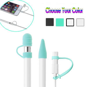 CARPRIE For Apple Pencil Cap Holder/Nib Cover/Cable Adapter Tether for iPad Pro