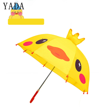 YADA Design Cartoon 3D Yellow Duck Umbrella Rainproof Sun Rainy Protection Parasol Animals Print Cute Long Handle YD046