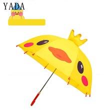 YADA Design Cartoon 3D Yellow Duck Umbrella Rainproof Sun Rainy Protection Parasol Animals Print Cute Long Handle Umbrella YD046