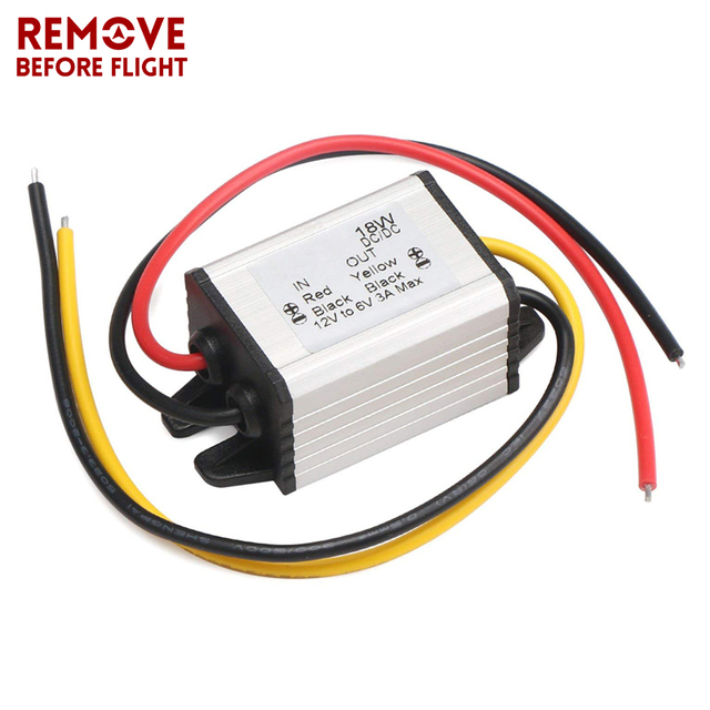 12V TO 6V 18W Converter Car Inverters DC/ DC Adjustable Voltage Regulator  Waterproof buck Power Supply Module-in Converters & Inverters from