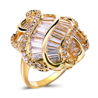 New Arrivals Romantic Engagement Lady Rings Best Gift For Lover Top Quality Setting Clear White CZ