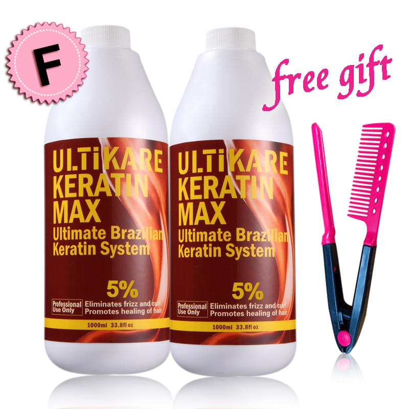 2pcs FREE Formaldehyde Brazilian Keratin Treatment DIY At Home Straightening and Repair Your Hair With Free Gifts christmas gifts mini chocolate 5% formaldehyde keratin treatment keratin purifying shampoo for diy at home