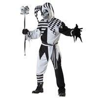 Gotico Con Cappuccio impertinente cospaly usura di Alta qualità nero joker cosplay costume di Halloween senza bacchetta e maschera W159340