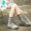 BIZHU children stockings winter retro thickened high tube source of wind art piles