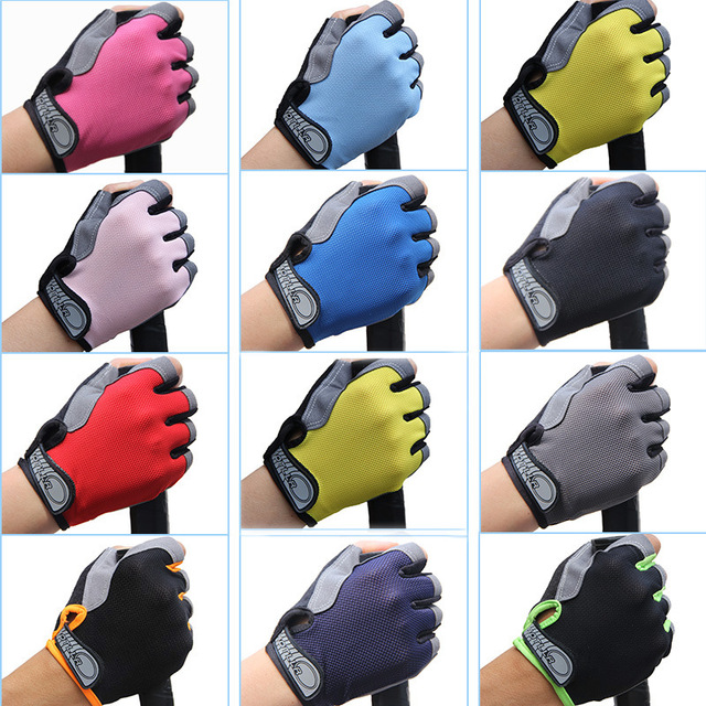 Men Women Outdoor Sports Cycling Bicycle Bike Gel Half Finger Fingerless Gloves