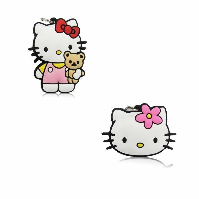 Única Venda 1 pc Olá Kitty PVC Pingentes Acessórios de Decoração Para Crianças Para Colar Encantos Jóias Da Moda Chave da Cadeia de Telefone