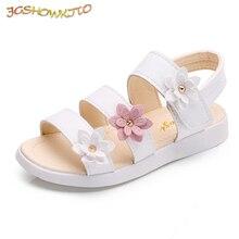 ce6816b4458e1 Filles sandales gladiateur fleurs doux doux enfants chaussures de plage  enfants d été Floral sandales princesse mode mignon de h.