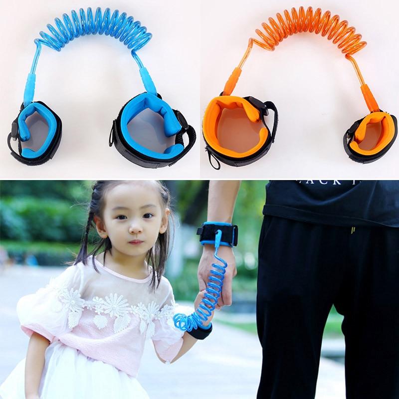1.5M Kids Baby Toddler Anti-lost Wrist Link Band Children Braclete Wristband Elastic Harness Safety Leash Strap BM88