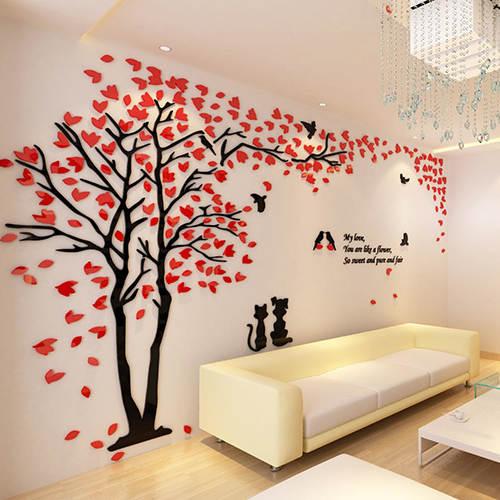 f73cfbc4b0b Couple Tree 3D Sticker Acrylic Stereo Wall Stickers Home decor Living Room  Bedroom Sofa Wall Decorative