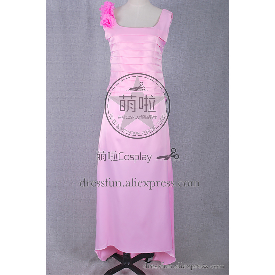Star Trek Cosplay Troi Costume Riker and Troi Pink Wedding Dress ...
