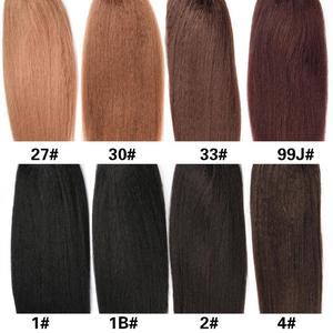 Image 5 - Термостойкие синтетические прямые волосы Лидия, 30 дюймов, с двумя пластиковыми гребнями для наращивания хвостиков, доступны все цвета