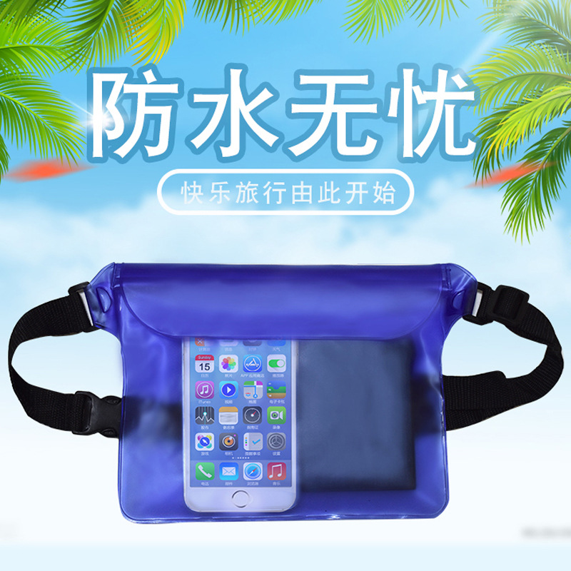 Outdoor Mobile Phone stream rafting Waterproof Waist Pack Large Capacity Swimming Diving Touchable Screen A5248