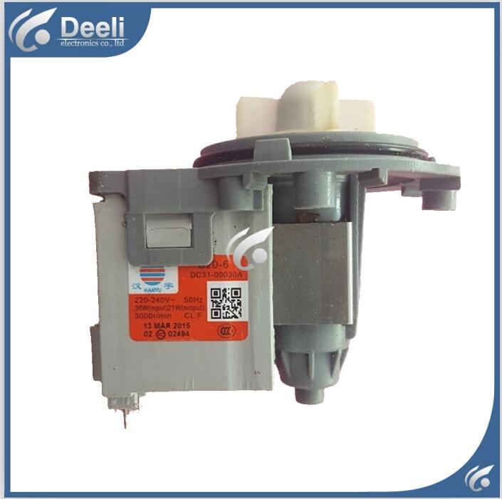 Original for washing machine parts Washing machine parts DC31-00030A B20-6 drain pump motor 30W good working  washing machine parts dxt 15f g 3 5a 250v 6 wires 6 8cm hole distant