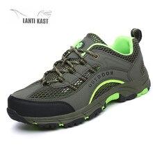 Outdoor Hiking Shoes Men Lightweight Mesh Breathable Walking Trekking Wading Tactical Shoes Sport Sneakers Men zapatillas hombre цена