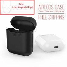 Pour apple airpods air gousses silicone noir housse de protection pochette anti perdu protecteur élégant manches fundas accessoires