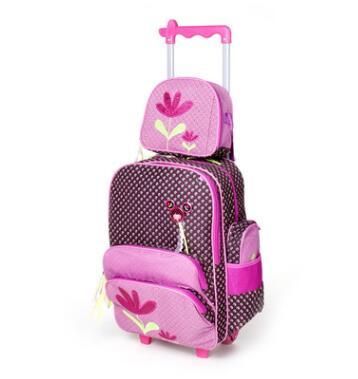 Дети тележка Сумки для школы рюкзак с Колёса детей Путешествия Роллинг рюкзак для девочки дорожная сумка тележка багажа Рюкзаки