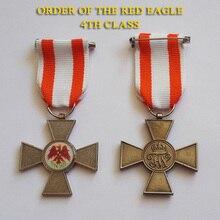 XDM0079 прусский Орден Красного орла 4-го класса с оранжевой белой лентой орден рыцарского неэмалированного Креста Патти значок
