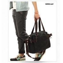 2016 Vintage bag Messenger Bag Mens Canvas School Military Shoulder Retro Style For Man Handbag