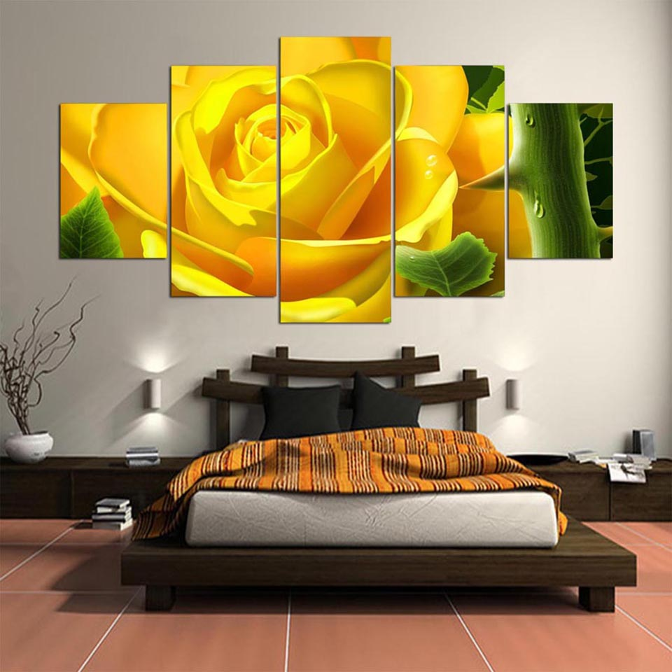 Home Decor Wall Art HD Frame Painting Canvas Modern Poster 5 Panel ...