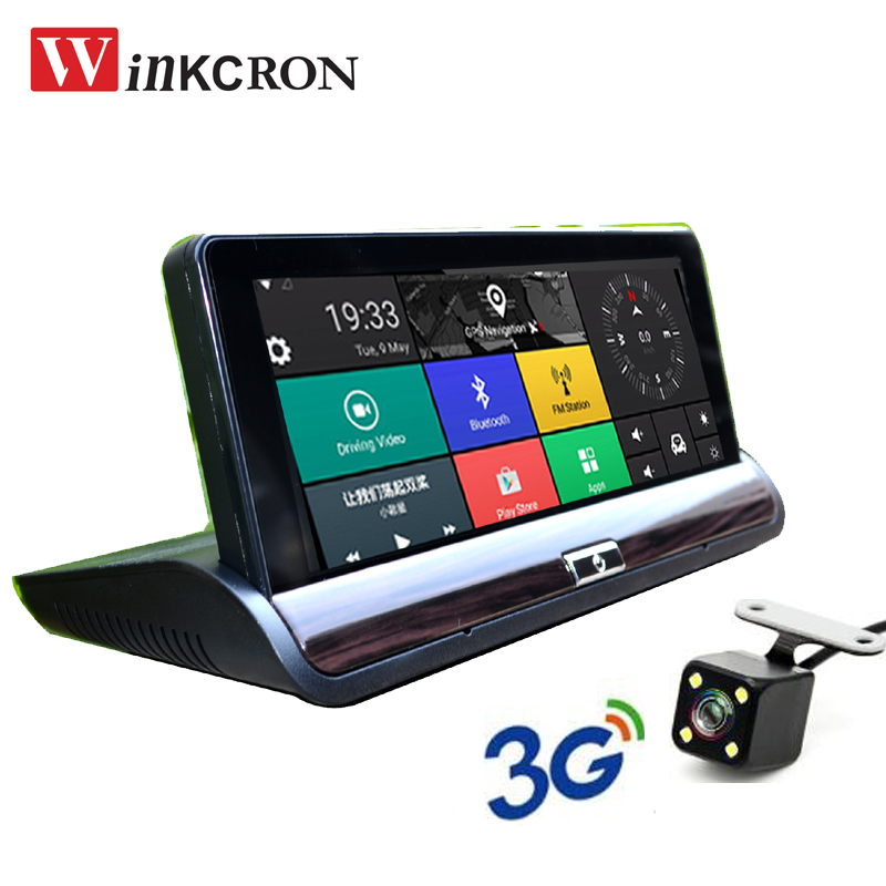 3G Car GPS Navigation DVR Dash Cam 7 inch IPS Android 5.0 Rearview Mirror FHD 1080P Video Recorder Wifi Bluetooth 16GB Free map 1pcs black holder outer rear tail lamp taillight right passenger side 8330a622 for mitsubishi lancer evo 2006 2012