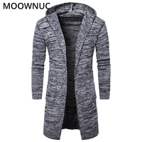 Sweater Cardigan Male Hat Smart Casual Fashion Autumn Slim Bottoming shirt Homme Cardigan Men Modish Solid Sweater MOOWNUC MWC