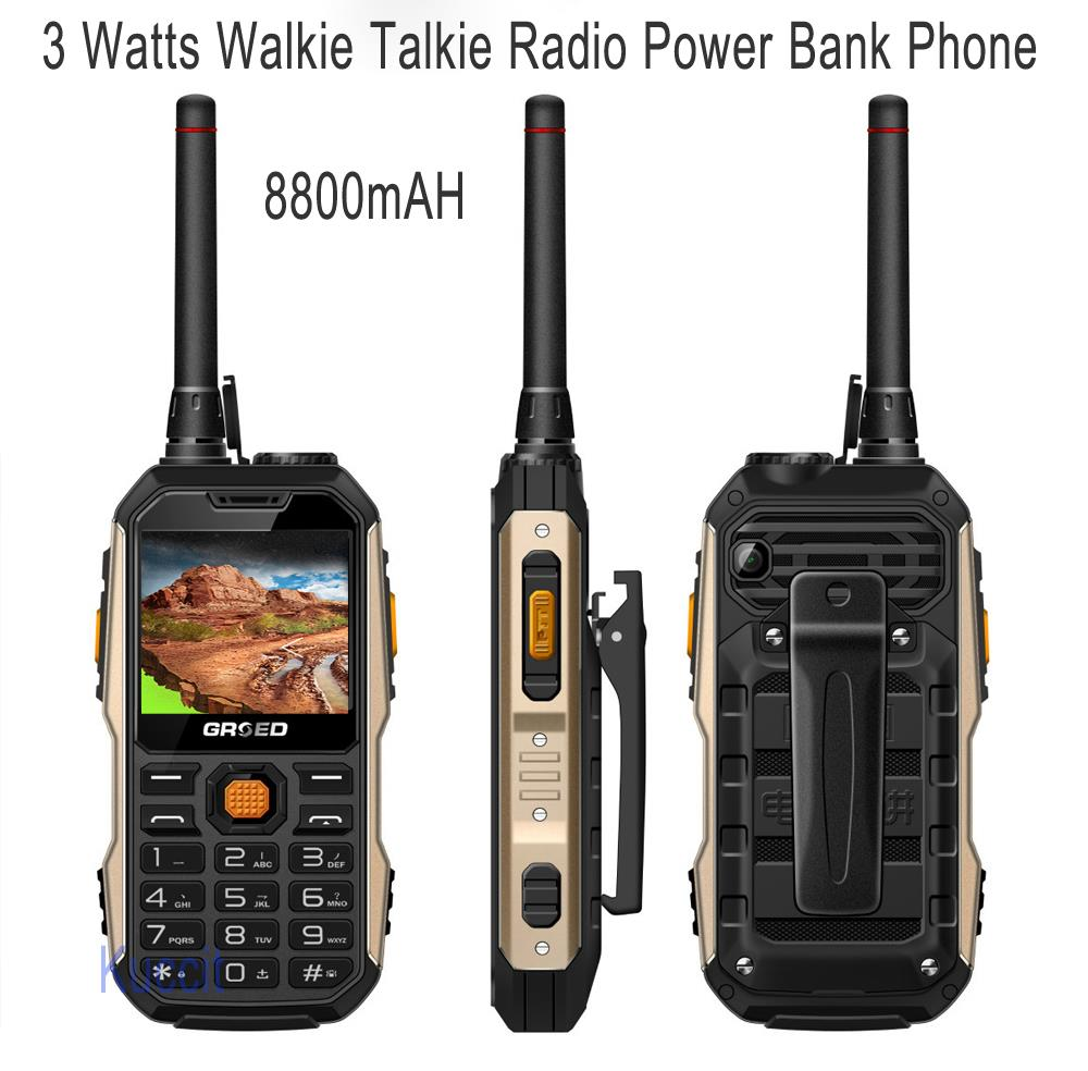 Rugged waterproof phone Senior old man mobile power bank phone Loud Speaker bluetooth 3 watts walike
