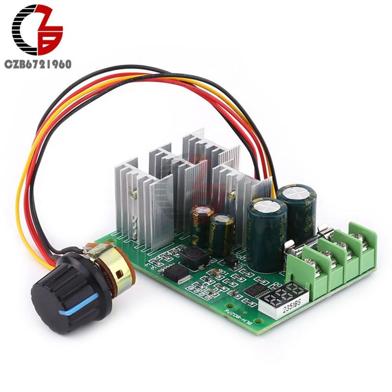 цена на DC 6-60V 30A Adjustable LED Digital Motor Drive Module PWM DC Motor Speed Controller Control 12V 24V 36V