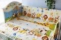 Promoción! 6 unids cunas 100% algodón del lecho del bebé cortina berco cuna bumpers, incluyen ( bumpers + hojas + almohada cubre )