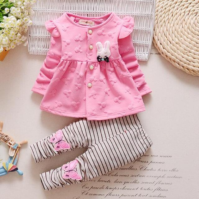 93336985b6d72 Fashion 2017 Baby Set Dot Cotton Baby Girl Clothes Kids Clothing Set Girl  (Pants+T-shirt) Christmas For Baby Suit Mutli-Colors