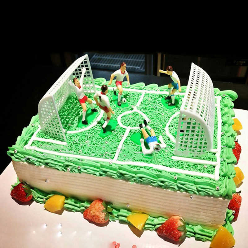 Super 8Pcs Football Game Cake Topper Birthday Cake Kids Doll Toy Home Personalised Birthday Cards Cominlily Jamesorg
