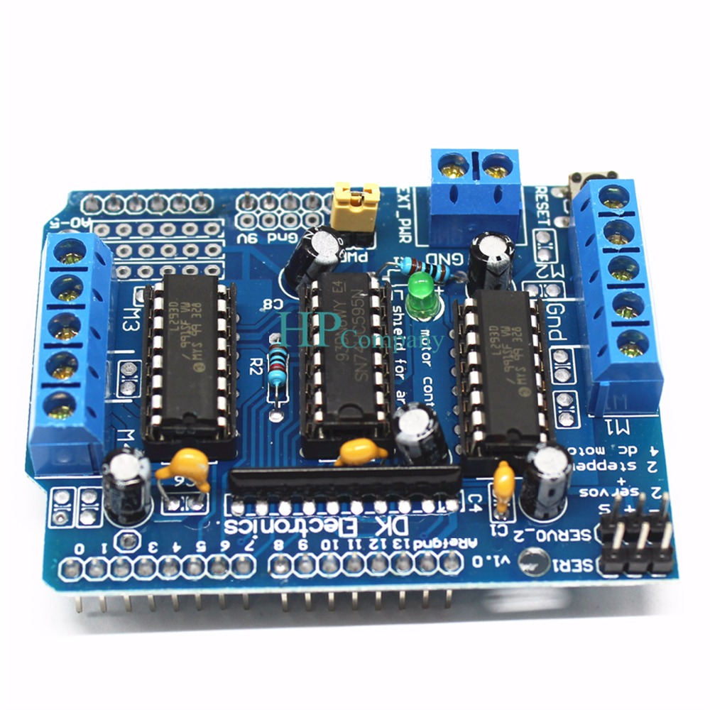 1pcs L293d Motor Control Shield Drive Expansion Board For Driver Ic Circuit Free Circuits Arduino In Integrated From Electronic Components Supplies On