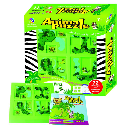 Forest animals maze, 72 puzzle Multi-level logical game kids toys for all ages pilsan puzzle 4x4 animals