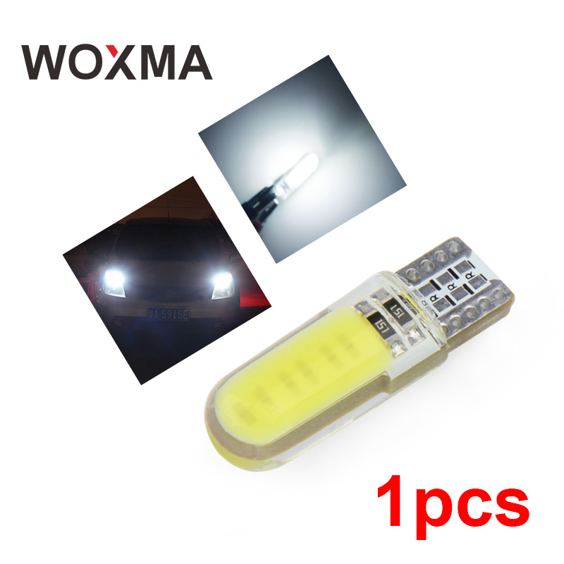 WOXMA T10 led Car W5W Light Bulb t10 12V Car Accessories Interior Light 6000k White Clearance Light for Car Styling Motorcycle woxma t10 led w5w 12v t10 car light auto interior bulb 6000k white 12 smd silica cob chip 168 194 clearance light for car 10pcs