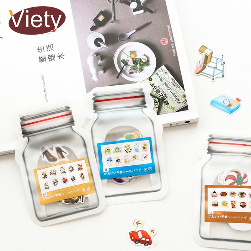 50 Pcs/bag Vintage Cartoon Creative Mini Paper Sticker PVC Decoration Sticker For Album Phone Scrapbooking Korean Stationery