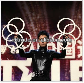 Free shipping Eight Ring - Juggling (4 pieces), stage close-up street wholesale magic tricks
