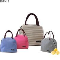 HMUNII Women Kids Men Cooler Lunch Box Bag Insulated Canvas Lunch Bag For Women Thermal Food