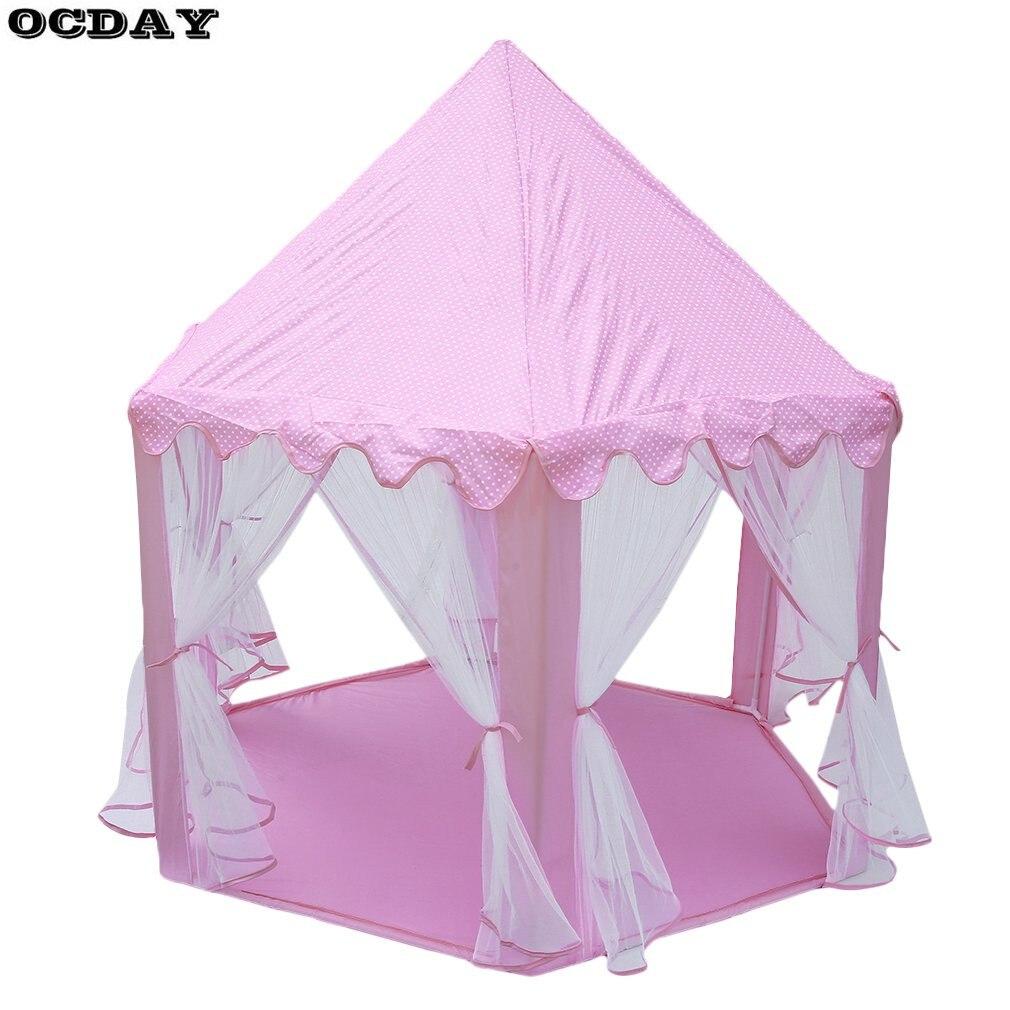 Enfants tente jouer maison pliant Tipi belles filles princesse château extérieur intérieur Playhouse étanche jouets tentes pour enfants cadeaux