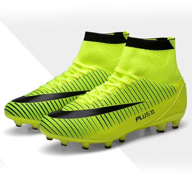 Nuevos adultos de tobillo más el tamaño de los hombres al aire libre Fútbol  tacos Zapatos cfd591b7c85b5