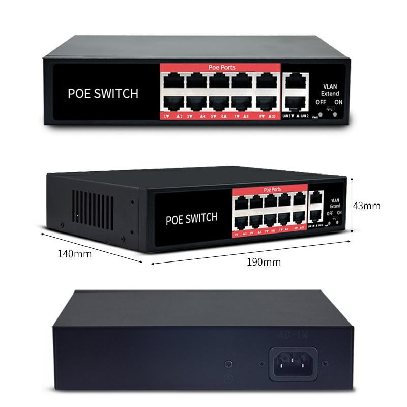 48 V Réseau commutateur Ethernet avec 8 10/100 Mbps Ports IEEE 802.3 af/à convient pour caméra IP /point d'accès sans fil/système de caméra cctv - 3
