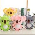 Бесплатная доставка 20 см цельный мини коала плюшевые игрушки ребенка с присоской подарок на день рождения супер мягкий коалы куклы 4 цвета
