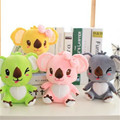 Envío gratis 20 CM de una pieza Mini Koala de peluche juguetes para bebés con lechón regalo de cumpleaños de Super Koalas Dolls 4 colores
