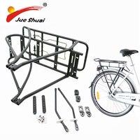 Verstelbare 26inch 28inch 700C Bike Bagage Rack Zwart Double Layer e Fiets Batterij Bagagedrager voor Fiets accessoires Fietsrek sport & Entertainment -