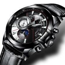 75628547afb Relógio de Homens de Luxo Da Marca suíça BINGER Relógios Homens Safira  Relógios Luminosos Masculinos à
