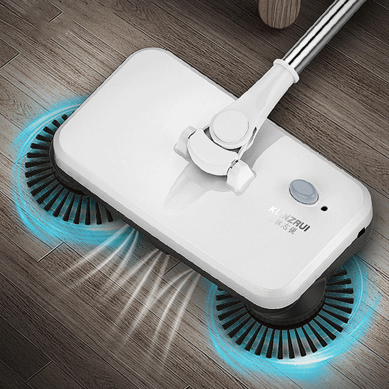 3in1 Electric Broom Sweeper Rechargeable Wireless Electric Mop Handheld Home Floor Cleaning Machine All-round Rotation Scrubber