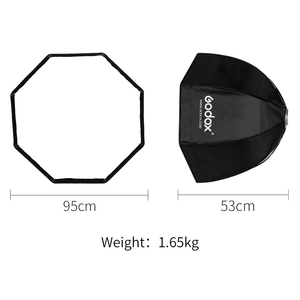 Image 3 - Godox 95cm 37.5in Foldable Portable Octagonal Umbrella Reflector Softbox with Bowens Mount for Studio Flash Speedlite