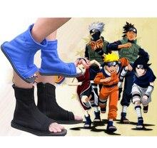 Cosplay Shoes Top Naruto Konoha Ninja Village Black Blue Sandals Boots Costumes Gift