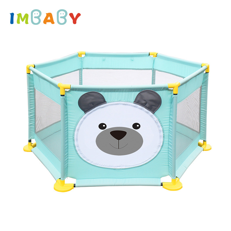 IMBABY Baby Playpens Ball Pool Toys For Kids Safety Barriers Play Yard Fence For Newborns Infants